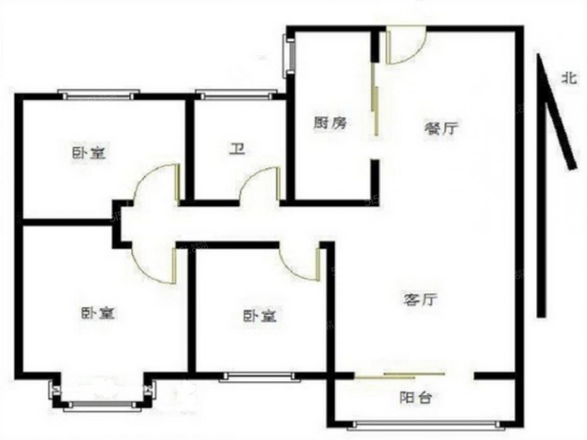 47 单价(万/m) 3室2厅 户型 95 面积(m) 小区:保利罗兰春天 楼层:中