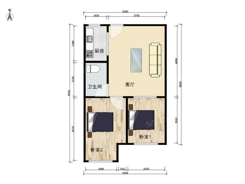 通州新城 清水湾 西向一居室 高楼层 k2清水湾 室内图7