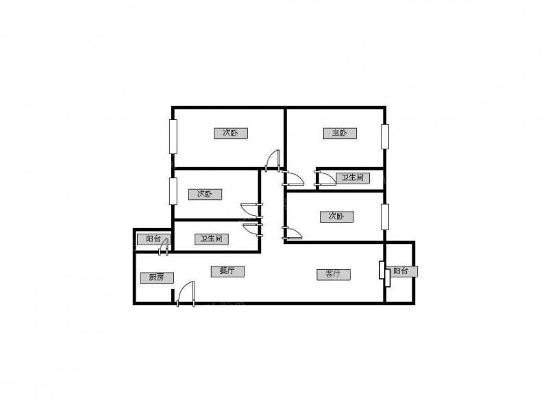 125平四房设计图