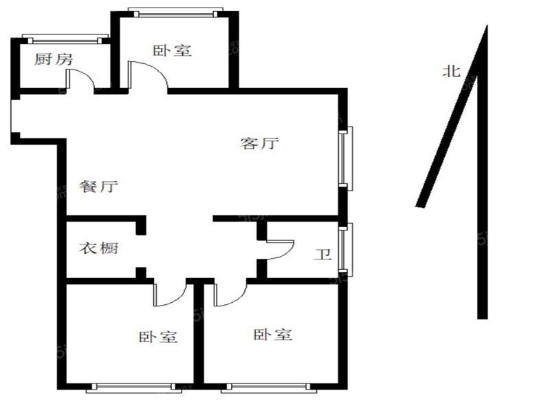 青岛我爱我家海怡新城锦云苑精装三居室东明厅 正规商品房 诚心出售第8张图