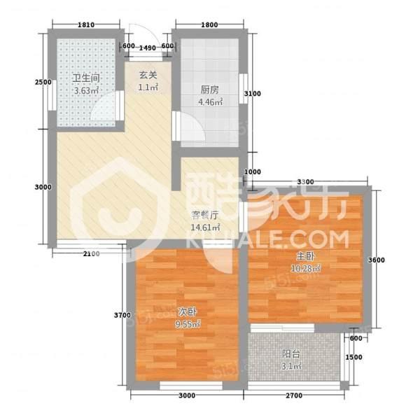 青岛我爱我家火车北站电梯海景房套二厅第2张图