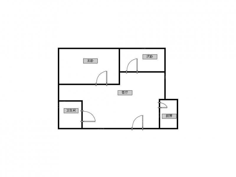 青岛我爱我家沧口公园婚装套二厅全套家具家电拎包入住第6张图
