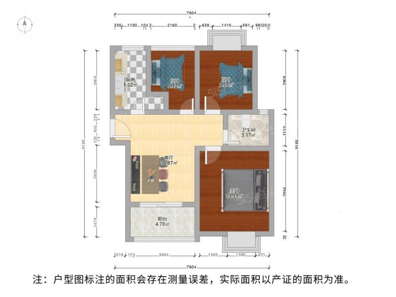 房东诚心出售,太湖汇景装修好的三房,满两岸,家电家具全留二手房