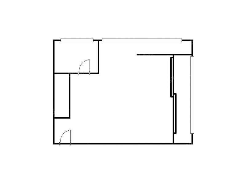 青岛我爱我家万达公馆一室一厅精装修68平方带阳台卫生间带窗户第6张图