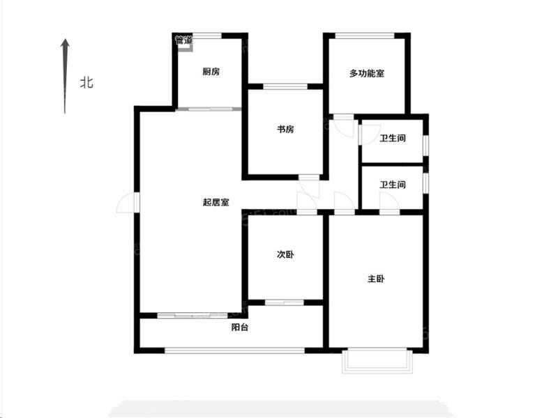 常州我爱我家万达旁中海龙城公馆四房毛坯三井双學区第15张图