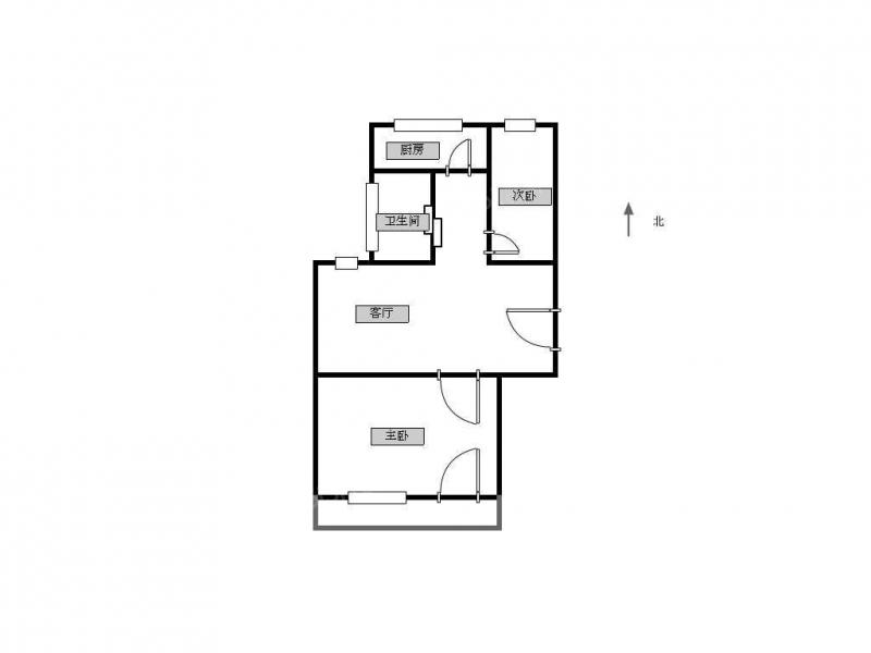 常州我爱我家虹桥新村2室 2厅 1卫75平米 55.8 万元精装第9张图