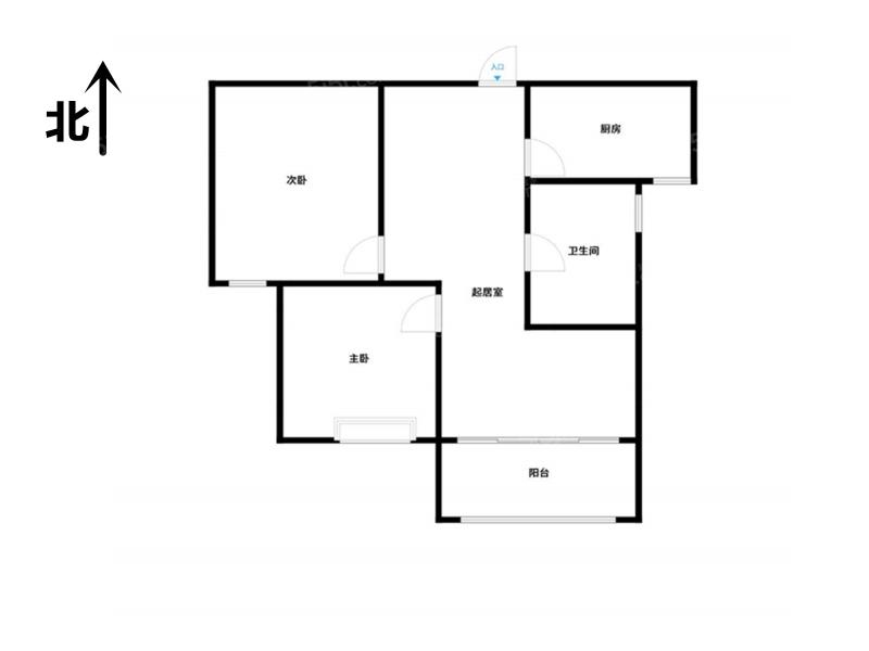 常州我爱我家府西花园,整租两室,高层全天采光第10张图